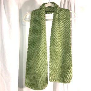 Pretty Peridot Green Knitted Scarf